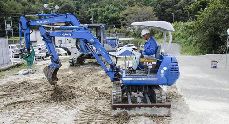 写真:小型車両系建設機械